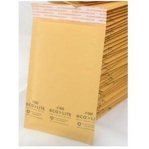100 ct Ecolite Size #000 Kraft Bubble Mailers